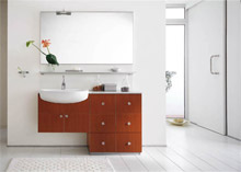 Traditional bathroom vanity cabinets